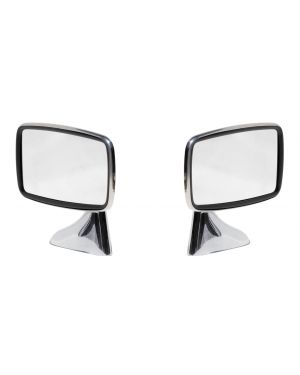 Classic Stainless Steel Door Mirror Mountney Door / Wing Mirror Pair Left & Right CDM2