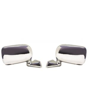 Chrome Domed Mirror Mountney with Austin Mini Door Mounting Left & Right Pair CMFD