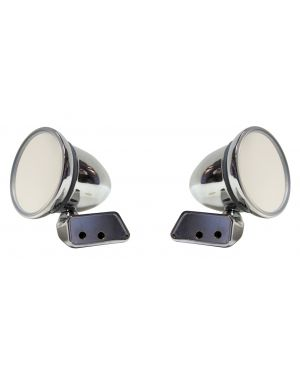 Chrome Bullet Mirror Mountney with Austin Mini Door Mounting Left & Right Pair CMFM