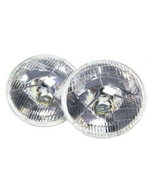 P700 Style 7 Inch Headlamps Mountney Classic - Pair for Land Rover Mini MG and more