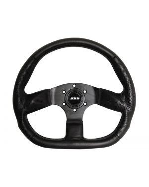 350mm M Range Corsa D Flat Bottom Leather Black Racing Sports Steering Wheel M34X3VV3S