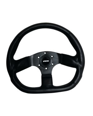 350mm M Range Corsa D Flat Bottom Moulded Black Racing Sports Steering Wheel M34X3VV3S