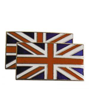 Pair of Union Jack Classic Badges Self Adhesive UJ1P